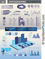 infographic, plantilla, presentación