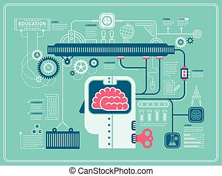 infographic, plat, expérience, conception, laboratoire
