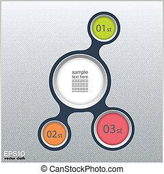 infographic, plat, metaball, communie, ontwerp