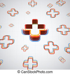 Infographic Plus Symbol Abstract Background