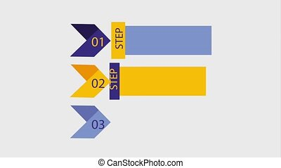infographic presentation diagram steps arrows animation hd