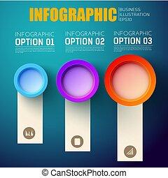 infographic, presentazione, affari, sagoma