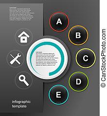 infographic, pretas, vetorial, desenho, fundo