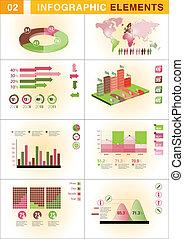 infographic, prezentacja, szablon