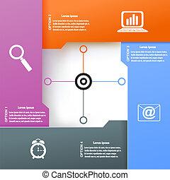 infographic, project., ügy, modern, ábra, vektor