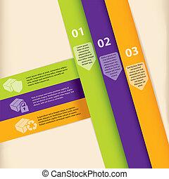 infographic, projektować, barwny, szablon