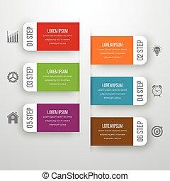 infographic, projektować, szablon