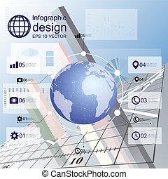 infographic, projeto fixo, ícones negócio