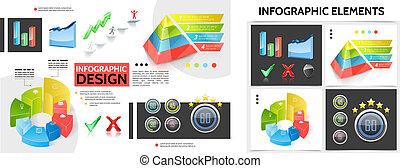 infographic, réaliste, concept, carrée