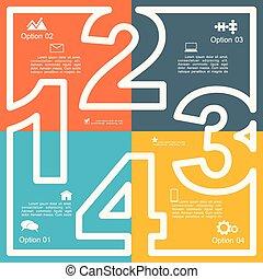 infographic, relatório, modelo, layout., vetorial,...