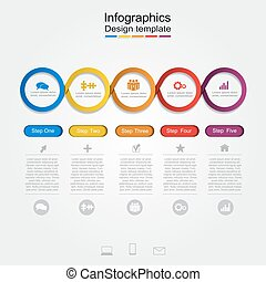 infographic, relatório, template.