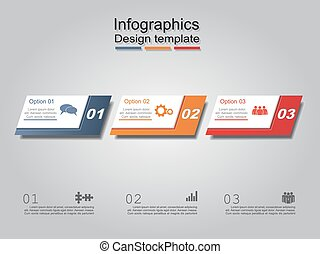 Infographic report template layout. Vector illustration. - ...