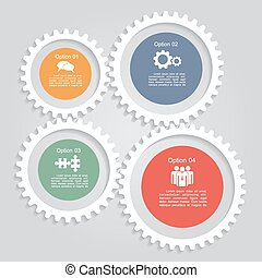 Infographic report template layout. Vector illustration. -...