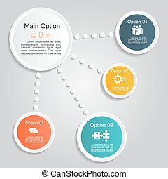 Infographic report template layout. Vector illustration.