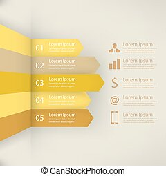 Infographic report template, vector illustration
