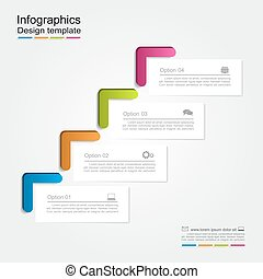 Infographic report template. Vector illustration. - ...