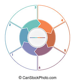 Infographic Ring from Arrows numbered for six position - ...