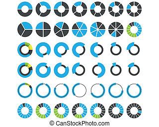 infographic, ronde, communie, pastei
