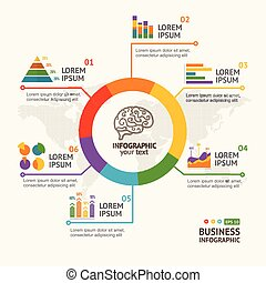 Infographic Round with Chart and Diagram. Vector