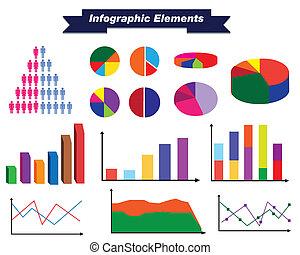 infographic, satz, elemente