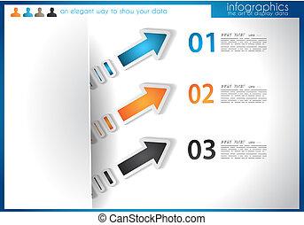 infographic, schablone, für, statistik, daten, visualization.