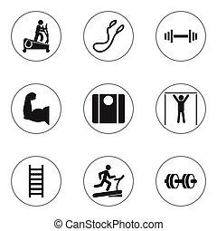 infographic, ser, conjunto, estilo de vida, móvil, icons., ...