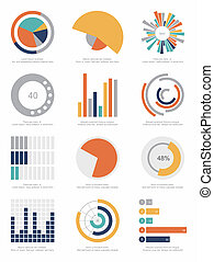 infographic, set, communie