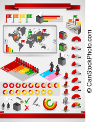 infographic set elements - Detailed illustration of a...