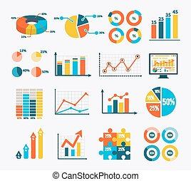 Infographic Set Graph and Charts, Diagrams - Big set...