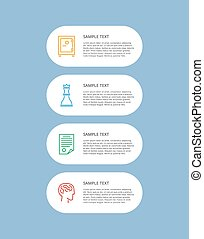 Infographic Set Text Sample Vector Illustration