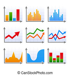 Infographic set with colorful arrows.  illustration.