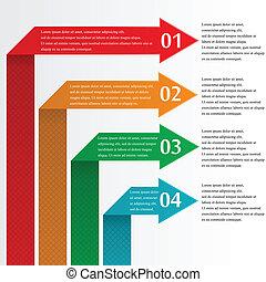 infographic, setas