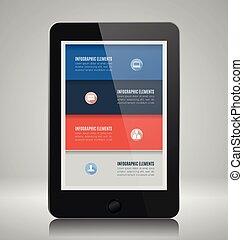 infographic, smartphone, éléments