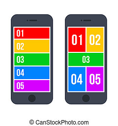 Infographic Smartphone Concept in Flat Style. Vector