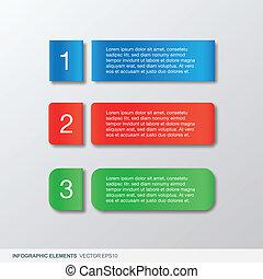 infographic, spandoek, kleurrijke