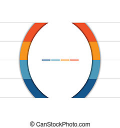 Infographic Strips and semicircle 4 position