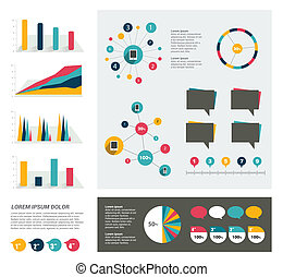 infographic, strona, template.