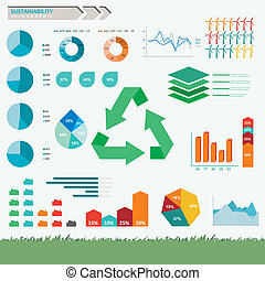 infographic, sustainability, vetorial