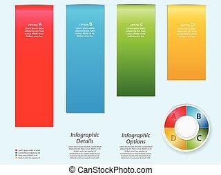 infographic, tło, na, lekki, blu