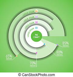 infographic, tarte, gabarit, diagramme