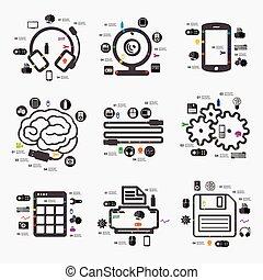 infographic, technika