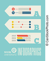 infographic, technologie, élément