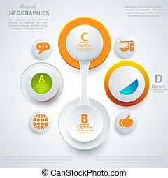 infographic, teia, presentation., negócio, modernos, ilustração, style., vetorial, modelo, bandeira, template.