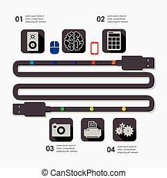 infographic, teknologi