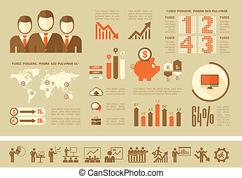 infographic, template., ビジネス