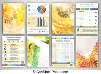 Infographic template backgrounds