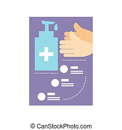 infographic template basic protective measures against the coronavirus vector illustration design