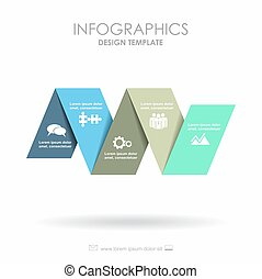 infographic, template., buechse, sein, gebraucht, für, workflow, plan, diagramm, geschaeftswelt, treten, optionen, banner, web, design.