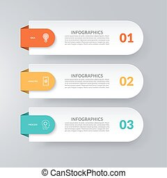 Infographic template. Business concept with 3 options. Vector design elements for infographics. Can be used for workflow layout, diagram, chart, graph, web design.