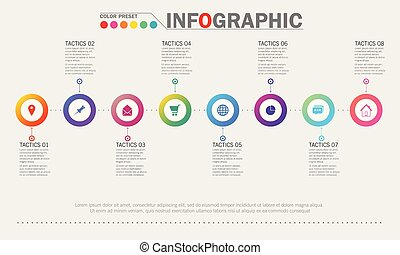 Infographic template. Concept business illustration. Vector